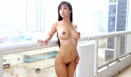 The massage therapist slathered body oil Asian girls and joined her in...