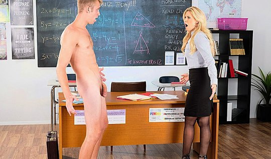 Business the nurse gave the blonde student on the Desk in College...