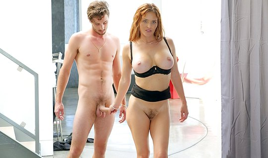 A redhead with big milkings satisfied lover creamy pussy...