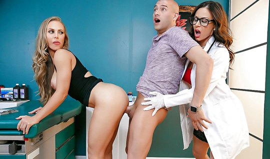 Group sex with appetizing nurse excites a pair of Swingers...