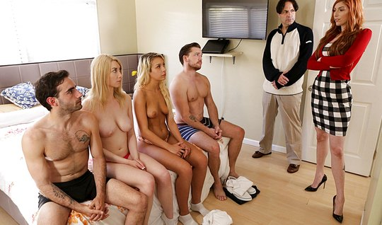 Swingers arranged in bedroom group porn now...
