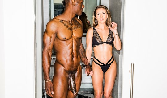 Negro with a big dick at the casting of the eagerly fucking a young wo...