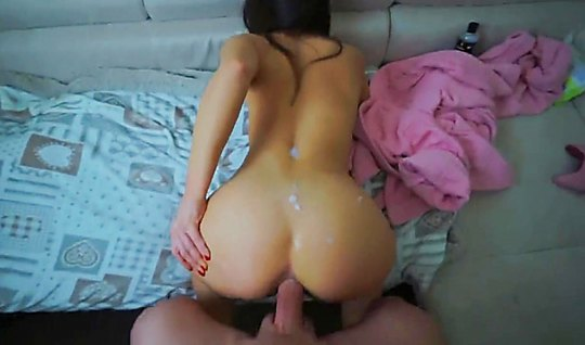 Horny young couple shoots home porn anal before retiring for bed...