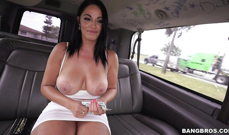 Guy fucked in the car Busty beauty