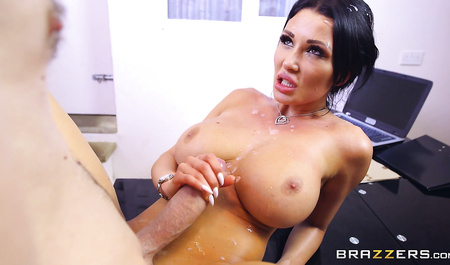 Busty bitch rides on big cock from Brazzers...