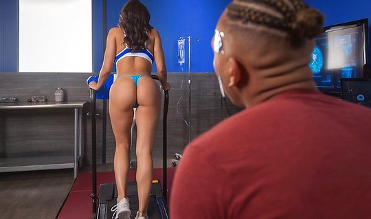 Ebony chick oiled ass oil and put your cock in the tight hole