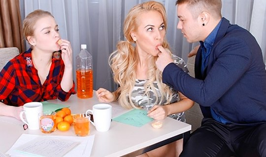 Russian Nicholas suggested kalibri and Busty blonde to do anal in an O...