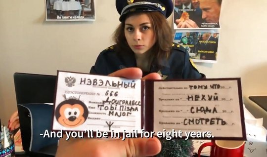 Russian passionate parody on the everyday life of the charming police ...