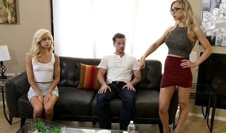 The man fucked the blonde and her slutty nurse with big Tits...