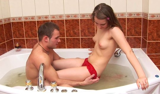 Russian couple in the bathroom took a beautiful gentle sex with orgasm...