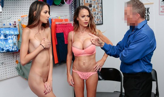 Mother and daughter in the office participate in a Threesome with a ma...