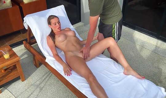 Russian beauty with big milkings after massage sex...