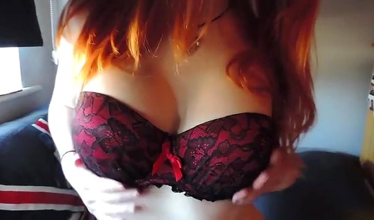 Red-haired beauty agrees to film homemade porn closeup...