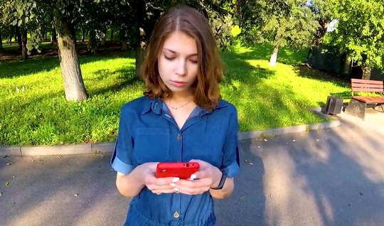 Russian girl after truck agreed to have sex in the first person...