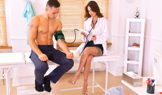 The doctor in the office section of the patient and conned him into ho...