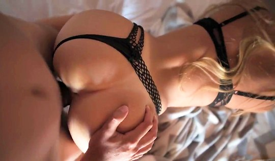 Blondie in black panties at home polishes cancer neighbors penis with ...