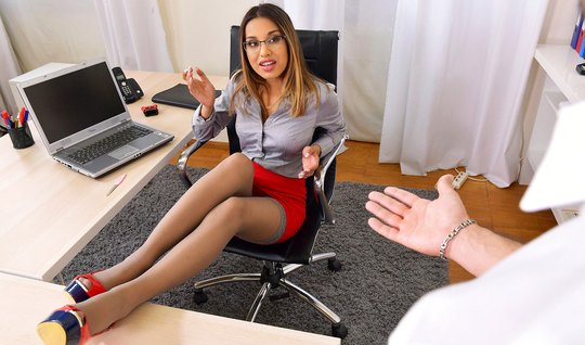 In sexy office assistant gets anal sex and a lot of sperm...