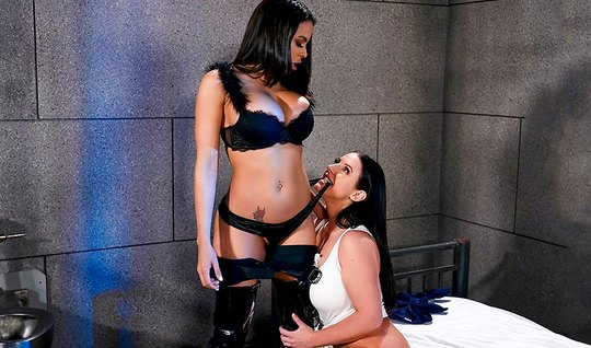Lesbian with big milkings right in the camera wear out each others lan...