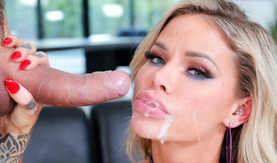 Blonde Masturbation after jumping on a cock and cums from anal...