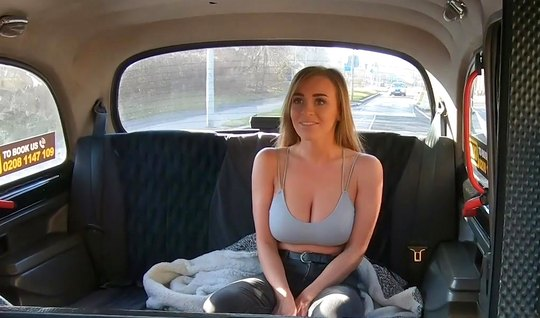 Blonde with big milkings Fucks driver in the car...