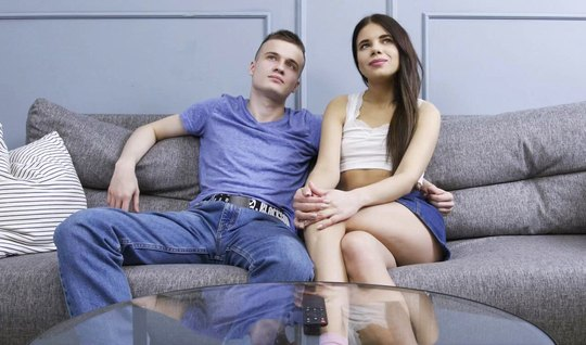 Russian girl with their own guy cheating on him with business gentlema...