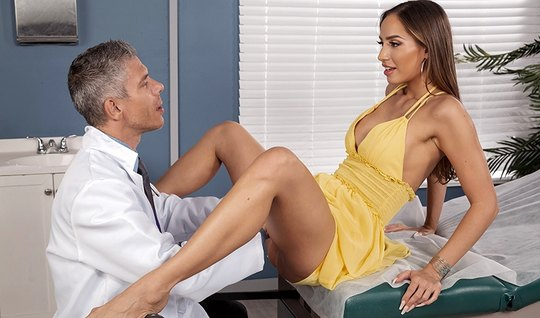 The brunette directly into the doctor spreads her legs for a spanking ...