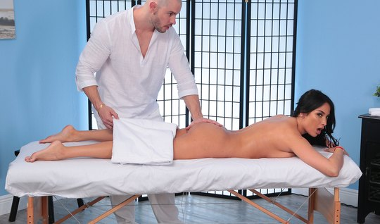 The massage was so relaxing, the brunette with the glasses that she ag...