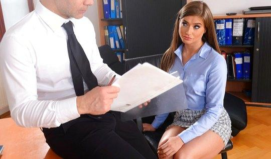 Man fuck new Secretary in anal...