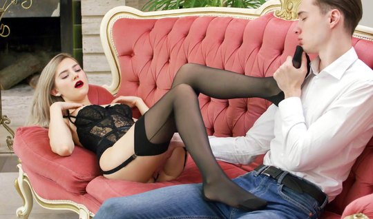 Premium Russian girl in stockings loves to fuck with a skinny dude on ...
