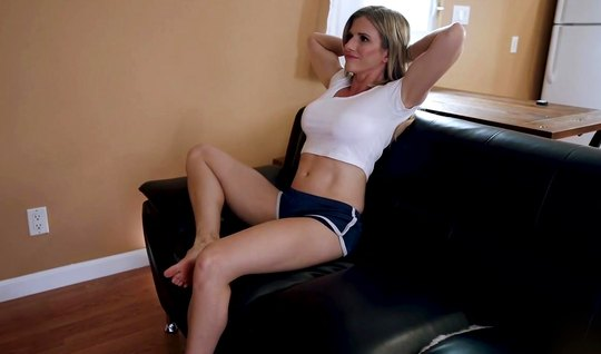 The nurse took off her shorts after training and earned a couple of sp...