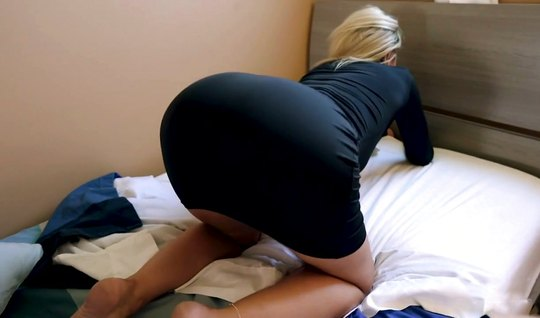 Two pretty mothers take off their dresses and start fucking a man in c...