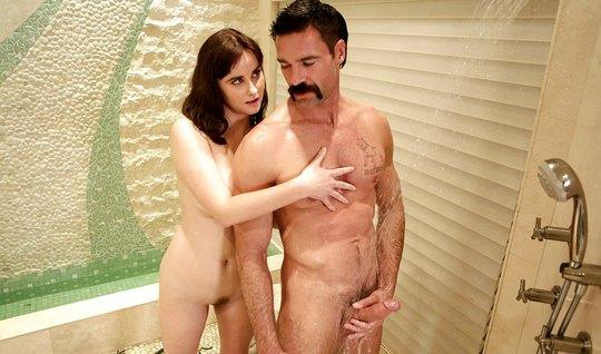 The nurse Fucks with the mustachioed neighbor and makes him a dick mas...