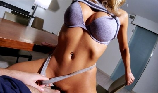 Athletic girl has long been waiting for home sex with a muscular dicky...