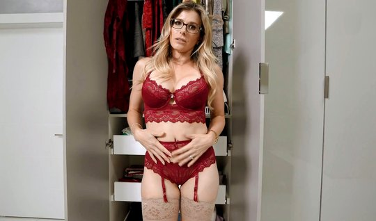 Milf in the closet from the first person sucks a fat dick and takes it...
