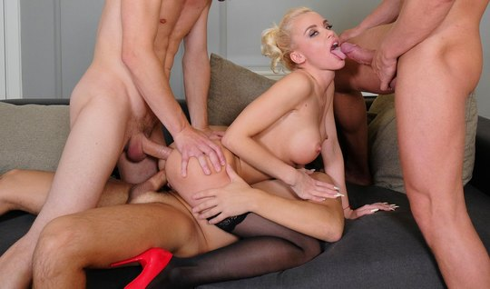 Blonde Orgy With Firefighters Likes Double Penetration